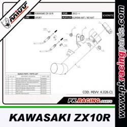 TUBE DECATALYSE ZX10R 11-15