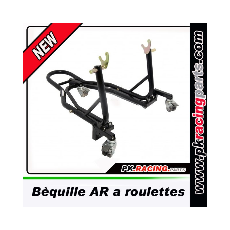 Bequille moto roulette