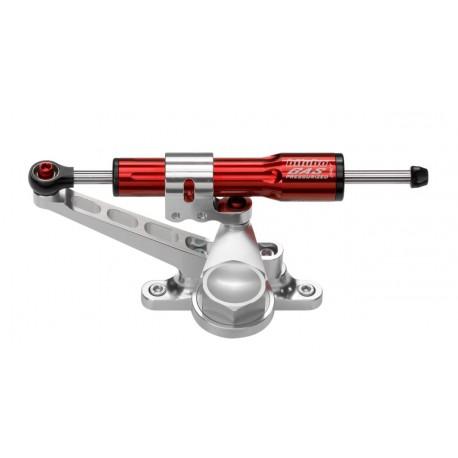 Kit amortisseur de direction BITUBO rouge position au-dessus du réservoir Kawasaki Z750/R