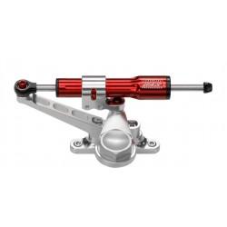 Kit amortisseur de direction BITUBO rouge position racing (tête de fourche sans feu avant) Kawasaki ZX10R