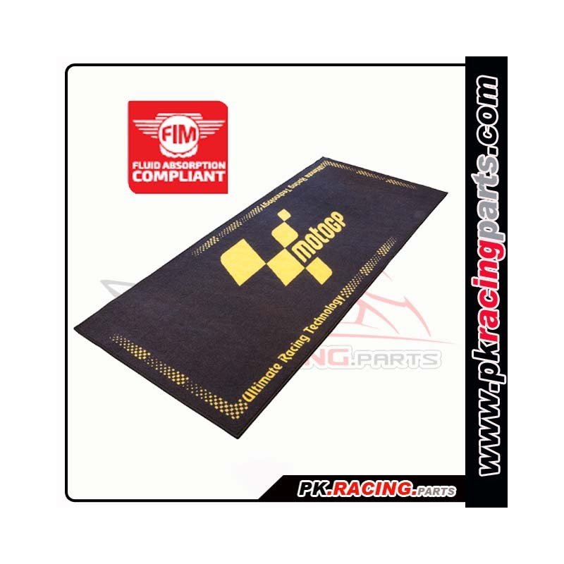 tapis environnemental moto gp nior et jaune. Black Bedroom Furniture Sets. Home Design Ideas