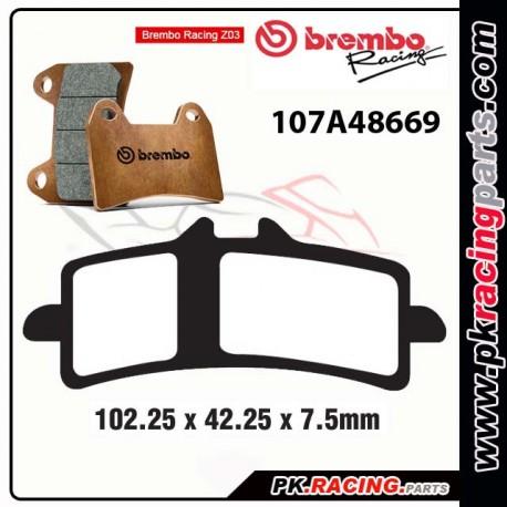 Plaquettes BREMBO Z03 107A48639 ( Compétition Endurance )