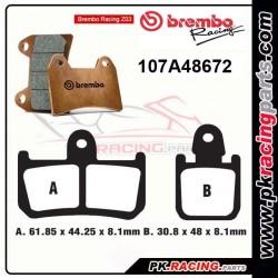 Plaquettes BREMBO Z03 107A48672 ( Compétition Endurance )