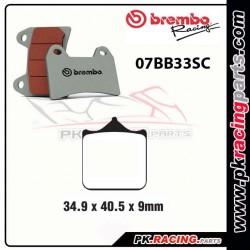 Plaquettes BREMBO 07BB33SC  ( Route )