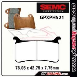 Plaquettes SEMC BREMBO GPXPH521 ( Compétiton)