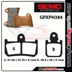 Plaquettes SEMC BREMBO GPXPH384 ( Compétiton)
