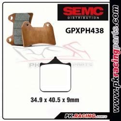 Plaquettes SEMC BREMBO GPXPH438 ( Compétiton)