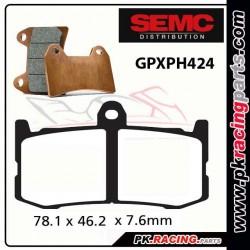 Plaquettes SEMC BREMBO GPXPH424 ( Compétiton)