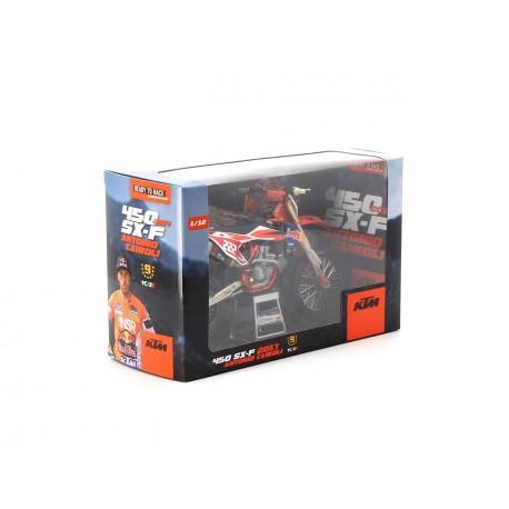 Modèle réduit 1:12ème KTM SX-F450 2017 Antonio Cairoli N°222