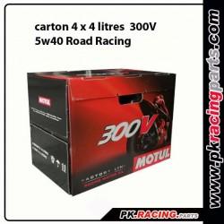 Carton 4 x 4 litres MOTUL 300 V FACTORY LINE ROAD RACING 5W40
