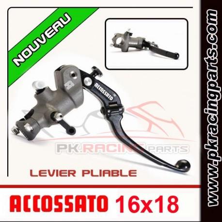Maitre cylindre ACCOSSATO 16X18 LEVIER pliable