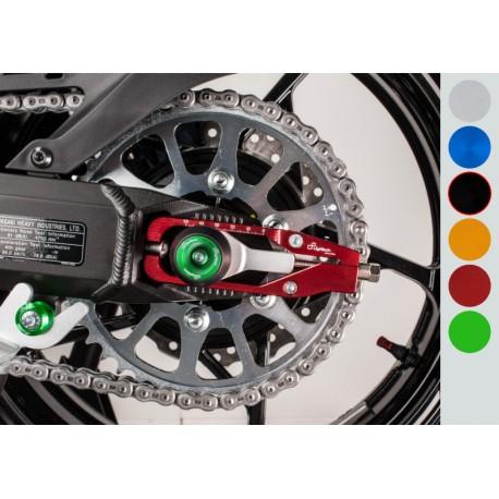 Protection fourche et bras oscillant (axe de roue) LIGHTECH noir Kawasaki Z900
