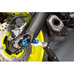 Protection fourche et bras oscillant (axe de roue) LIGHTECH cobalt Yamaha MT-09