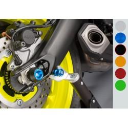 Protection fourche et bras oscillant (axe de roue) LIGHTECH noir Yamaha MT-09