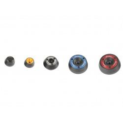 Protections fourche et bras oscillant (axe de roue) LIGHTECH cobalt Honda Cbr600R