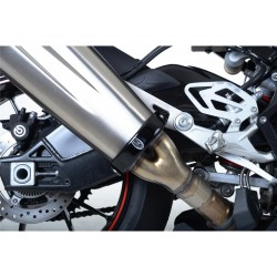 Protection de manchon de silencieux R&G RACING noir BMW S1000RR