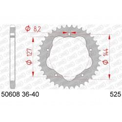 Couronne AFAM 39 dents acier pas 525 type 50608K Ducati Monster 796