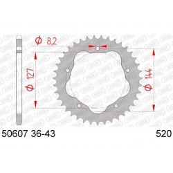 Couronne AFAM 38 dents acier pas 520 type 50607 Ducati