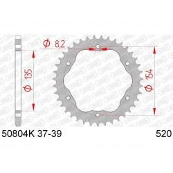 Couronne AFAM 38 dents acier pas 520 type 50804K Ducati 1198