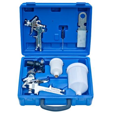 Kit 2 pistolets peinture HVLP PROFESSIONNELS