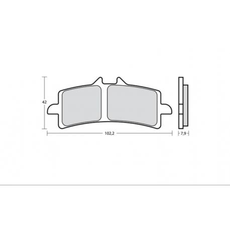 Plaquettes de frein BREMBO Z10 - 107A48659