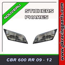 FAUX PHARES AUTOCOLLANTS CBR 600 RR 09- 12