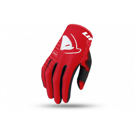Gants motocross enfant UFO Skill Kimura rouge/blanc taille XL