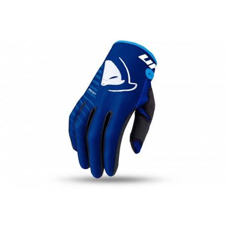 Gants motocross enfant UFO Skill Kimura bleu/blanc taille L