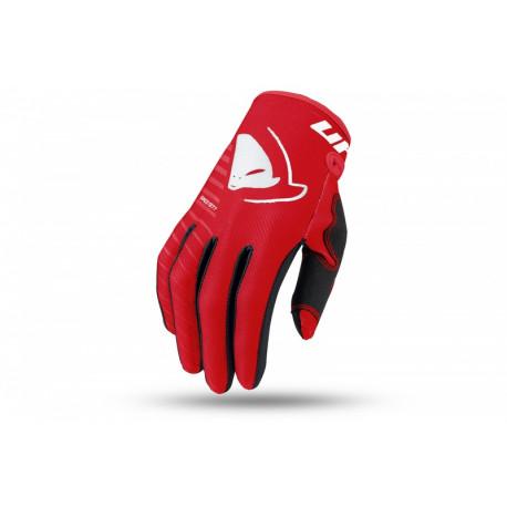 Gants motocross enfant UFO Skill Kimura rouge/blanc taille XS
