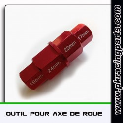 Douille rouge pour dèmontage de roues