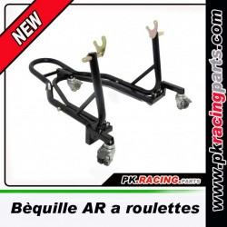 Bequille moto arriere a roulettes