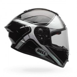 Casque BELL Race Star Tracer Gloss noir/blanc