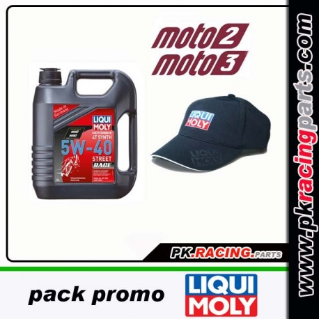 PACK PROMO LIQUI MOLY 5W40 RACE + CASQUETTE