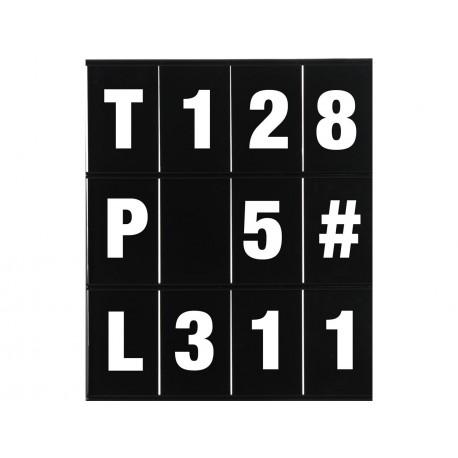 kit lettres et chiffres pour panneau LIGHTECH