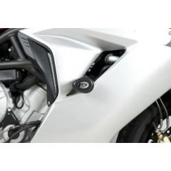 Tampons de protection R&G RACING Aero noir MV Agusta F3