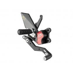 Commandes reculées réglables/repliables LIGHTECH sélection standard et inversée noir Suzuki GSXR 600