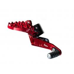 Commandes reculées repliables LIGHTECH sélection standard rouge Ducati Hypermotard 821/939