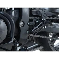 Commandes reculées multipositions R&G RACING noir Honda CBR600RR